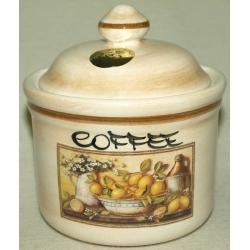 Банка для сыпучих продуктов с керамической крышкой (кофе) «Лимоны» 0,5 л