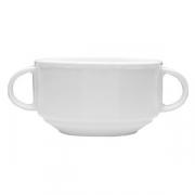 Бульонная чашка «Меркури», фарфор, 325мл, D=105,H=60,B=150мм, белый