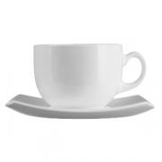 Набор чайн.пар «Квадрато» белый 220мл 6шт