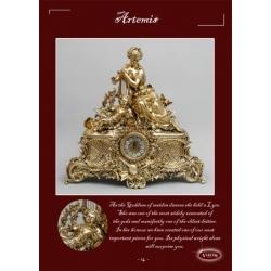Часы «Артемида с арфой» золото 60х63 см.