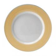 Тарелка сервировочная «Рио Еллоу»; фарфор; D=30см; белый,желт.
