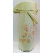 Термос «Тюльпаны» с помпой на 2,5 литра