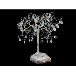 Сувенир в форме дерева, 60 подвесок, высота 25 см.