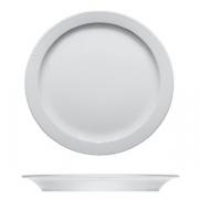Тарелка мелкая «Карат», фарфор, D=255,H=25мм, белый