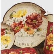 Салатник глубокий 33 см «Парижские маки»
