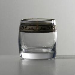 Набор стаканов 1/6 «Идеал» 230 мл; виски; декорирование платиной