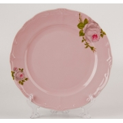 Набор тарелок 24 см. 6 шт. «Алвин розовый»
