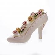 Декоративная туфелька 27x10x15 см. «Цветы»