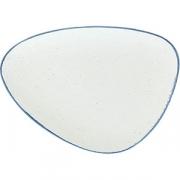 Блюдо «Органика» L=34.5, B=25см; белый, синий