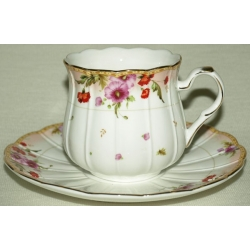 Набор 12 предметов: 6 чашек + 6 блюдец «Виолетта» 0,25