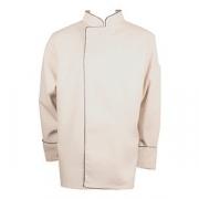 Куртка поварская с окант. 52-54разм., твил, бежев.,черный