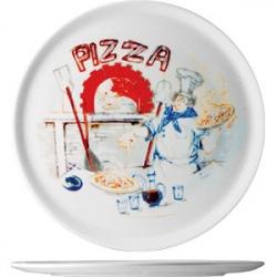 Блюдо для пиццы «Чинция» d=28.5см с рис.