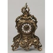 Часы с завитком каштан 38х25 см.