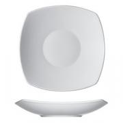 Тарелка глуб.квадр. «Опшенс», фарфор, L=30,B=30см, белый