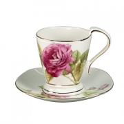 Чашка 220мл с блюдцем 16 см «Розовый сад»
