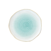 Тарелка Artesanal (зел-голубая) без инд.упаковки