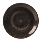 Тарелка мелкая «Крафт», фарфор, D=250,H=17мм, серый