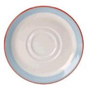 Блюдце «Рио Блю», фарфор, D=11.7см, белый,синий
