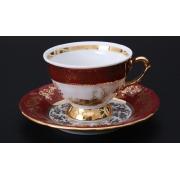 Набор для кофе мокко «Охота красная» (чашка100 мл. +блюдце) на 6 перс. 12 пред.
