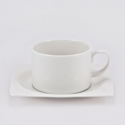 Набор 6 чайных пар 250мл «White Square»