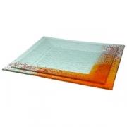Тарелка «Макс» 20*20см оранжевая
