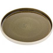 Тарелка мелкая «Нара» D=21, H=2.5см; олив.