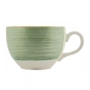 Чашка чайная «Рио Грин», фарфор, 227мл, белый,зелен.
