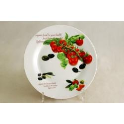 Набор из 4-х тарелок «Помидоры и оливки» 19 см