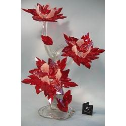 Композиция 3 орхидеи красная, 65 см.