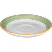 Блюдце «Рио Грин» D=15, H=1.6см; белый, зелен.