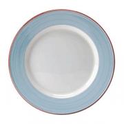 Тарелка сервировочная «Рио Блю»; фарфор; D=30см; белый,синий
