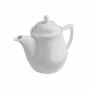 Чайник «Увертюра», фарфор, 600мл, D=80,H=160,L=185,B=115мм, белый