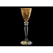 Рюмка для ликера Гармония «Амбер с золотыми колокольчиками»