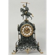 Часы «всадник» цвет - синий 40х24см