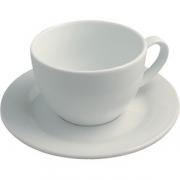 Пара кофейная для капучино D=15.5см; белый