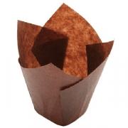 Тарталетки «Тюльпан» [300шт], бумага, D=35,H=60мм, белый