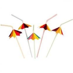 Трубочка с зонтиком 50шт.фигурный