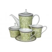 Сервиз чайный 17 предм.на 6 персон «Монтра Зеленый»