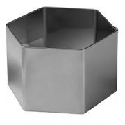 Форма конд. «Шестиугольник», сталь нерж., D=70,H=45мм, металлич.