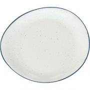 Блюдо круглое «Органика» D=32см; белый, синий