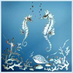 Зеркало «Морские коньки»