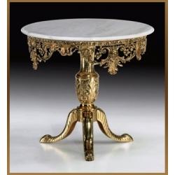 Стол круглый цвет - золото 81х90см