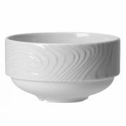 Бульонная чашка «Оптик», фарфор, 280мл, D=105,H=60мм, белый