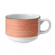 Чашка чайная «Рио Пинк»; фарфор; 200мл; белый,розов.