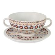 Суповая чашка на блюдце Ацтека