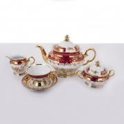 Сервиз чайный на 6 перс. 15 пред. «Роза Красная»