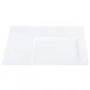 Тарелка квадратная «Гурме-Стиль», фарфор, L=24,B=24см, белый