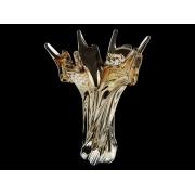 Ваза 32 см коричневый+опал «тигровый глаз»