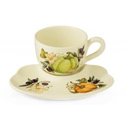 Чашка на блюдце-подносе Тыква
