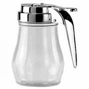 Молочник, поликарбонат,нерж., 230мл, H=106,L=95мм, прозр.,серебрян.